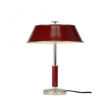 VICTOR - Table Light Burgundy Red