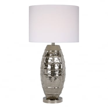 ORIN Table Lamp Nickel complete with Shade