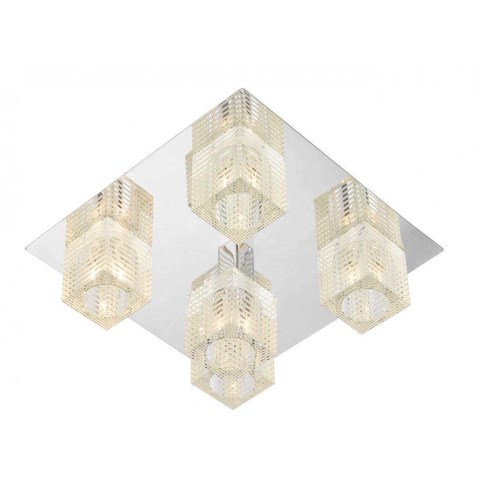Oswald square flush ceiling ceiling light for low ceilings