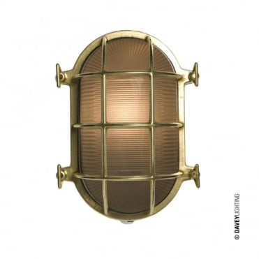 OVAL - Brass Bulkhead 7035 With Internal Fixing Polished Brass