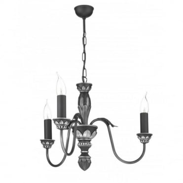 OXFORD - Antique Pewter Ceiling Light in Antique Silver