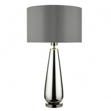 PABLO - Table Lamp Black Chrome Glass Complete With Shade Black Chrome
