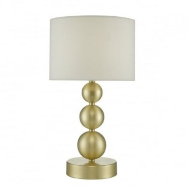 PAIGE - Touch Lamp Brsh Gold Cream Shade