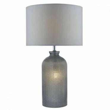 PAMPLONA - Table Lamp Grey Dual Source with Shade