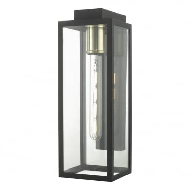 PARKER Contemporary Exterior Wall Lantern Matte Black with Interchangeable Lamp Collar (Brass, Copper or Chrome)