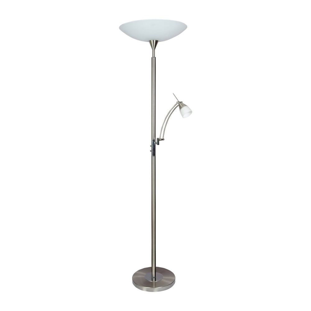Dimmable led mother child floor lamp steel lighting and lights uk pearl dimmable led floor lamp steel aloadofball Images
