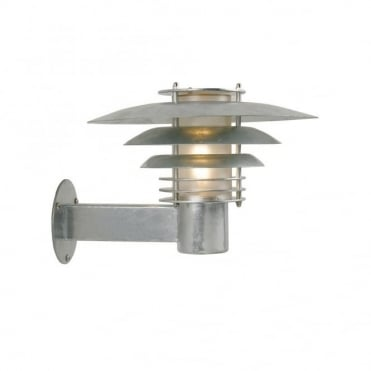 PHOENIX - Small Modern Exterior Wall Light Galvanised Steel