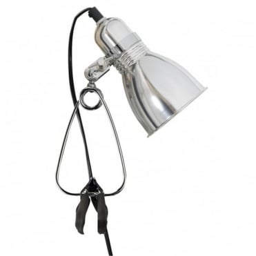 PHOTO - Portable Clamp Wall Light Aluminium , Switched
