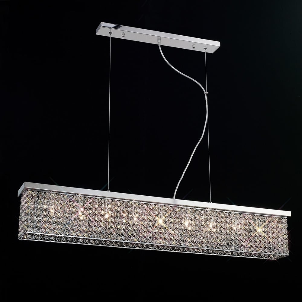 online store 8cd4c 278c7 PIAZZA Rectangular Flush Ceiling Light/Ceiling Pendant Chrome and Crystal