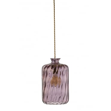 PILLAR - Bottle Hanging Ceiling Pendant With Obsidian Dimpled Glass