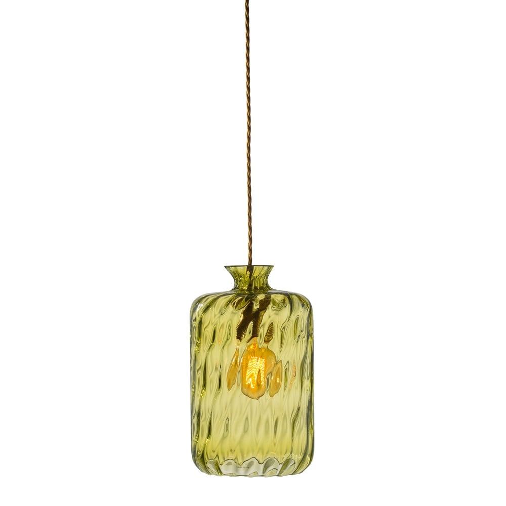 green glass pendant lighting. PILLAR - Bottle Hanging Ceiling Pendant With Olive Dimp LED Glass Green Lighting P