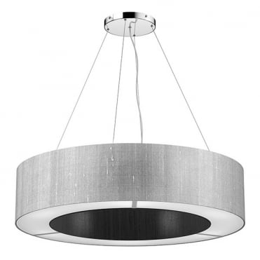 POLO 50cm Silk Ceiling Pendant Two Tone (Choose Own Colours)