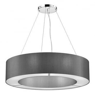 POLO 85cm Silk Ceiling Pendant Two Tone (Choose Own Colours)