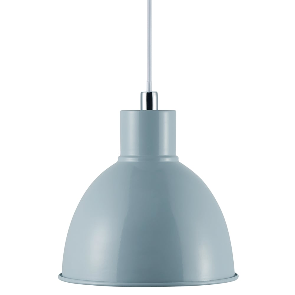 retro metal ceiling pendant in pale blue lighting and lights uk
