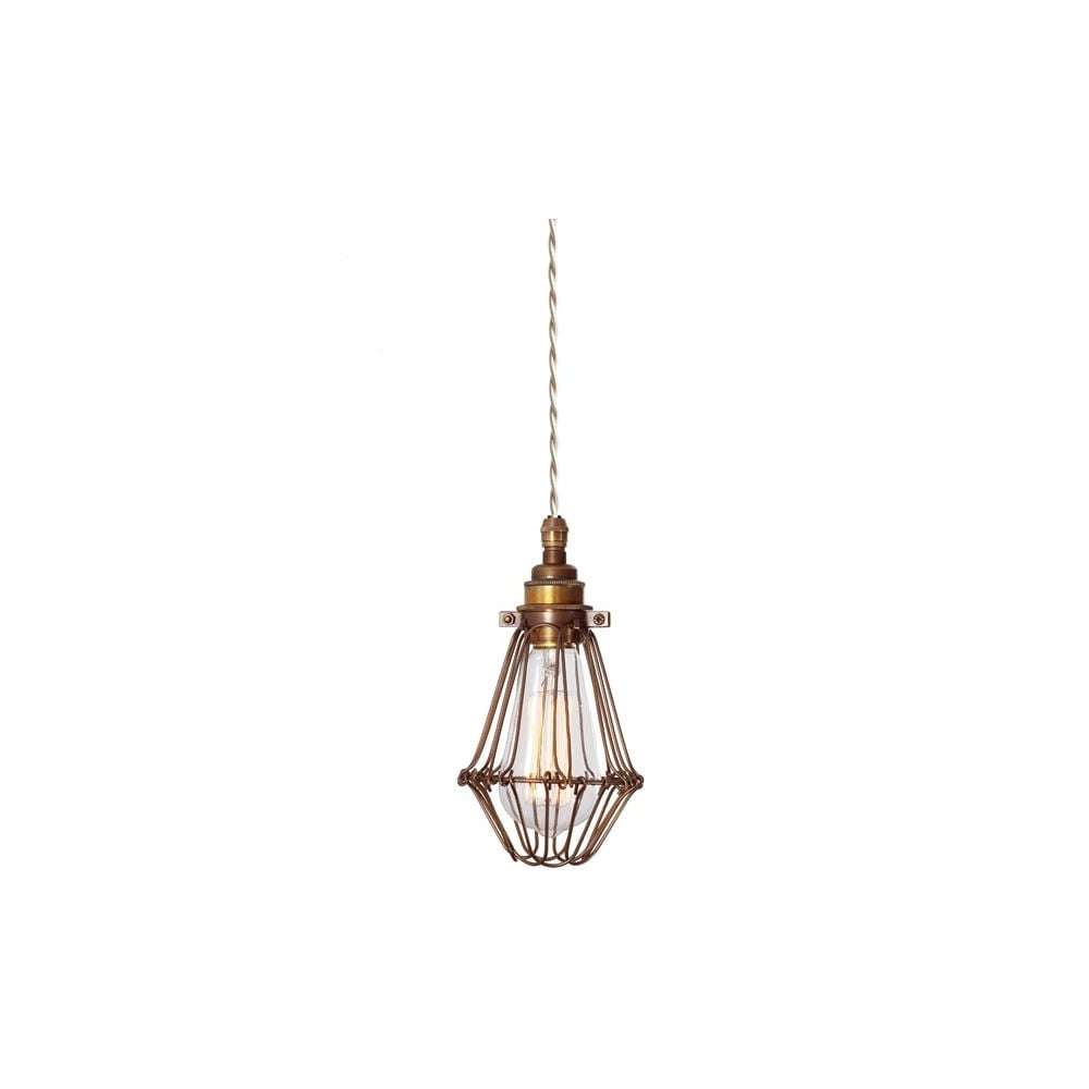 industrial styled bronze cage ceiling pendant lighting and lights uk