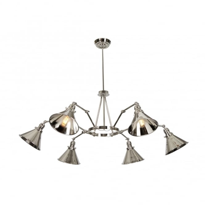 PROVENCE - Polished Nickel Chandelier