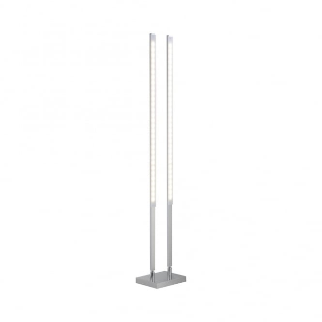 Qglido rgb colour changing led twin floor lamp steel for Remote control floor lamp for sale