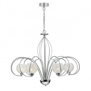 RAFFERTY - 6 Light Ceiling Pendant Glass And Crystals
