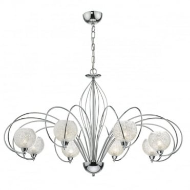 RAFFERTY - 8 Light Ceiling Pendant Glass And Crystals