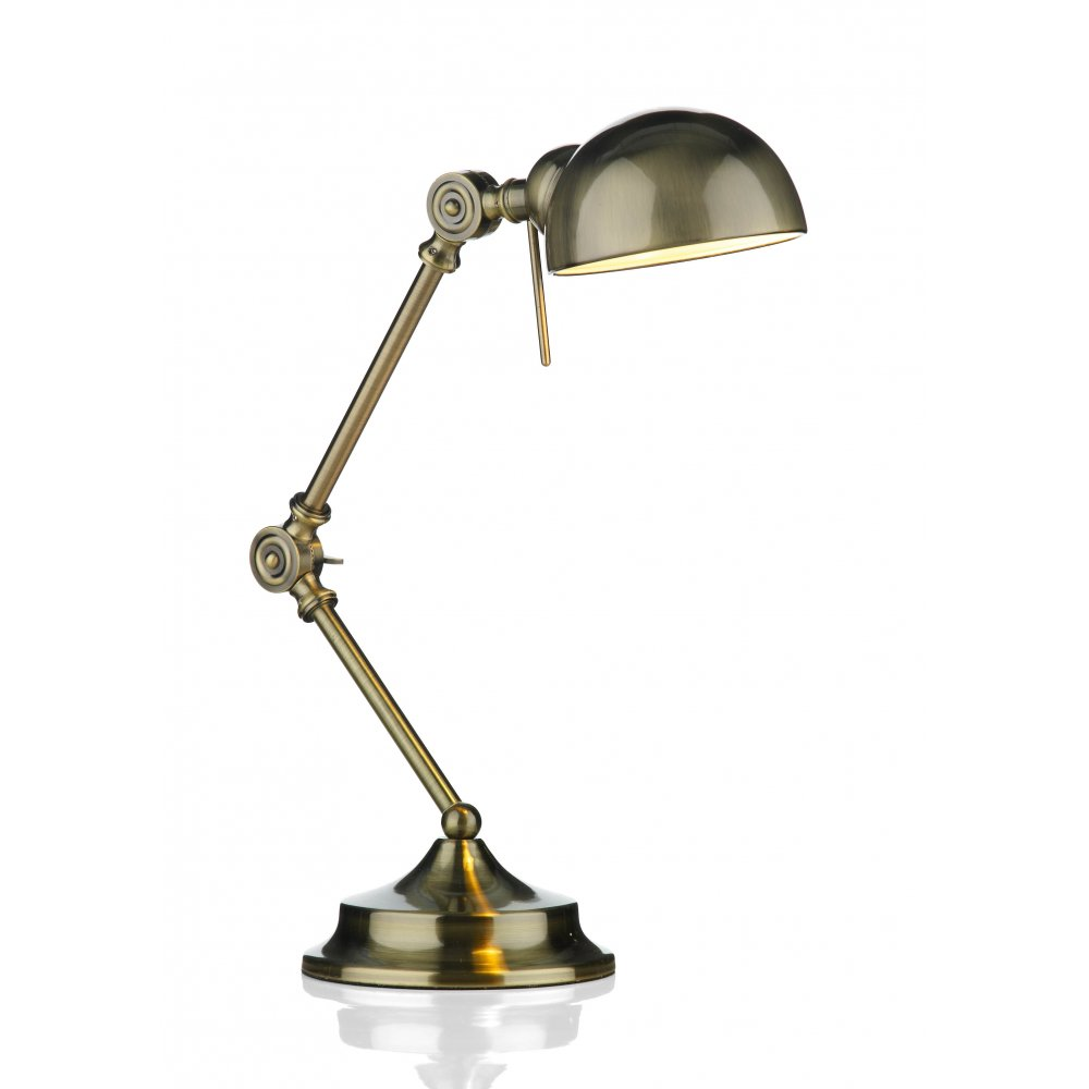 Astounding Ranger Antique Brass Adjustable Desk Or Reading Lamp Download Free Architecture Designs Viewormadebymaigaardcom