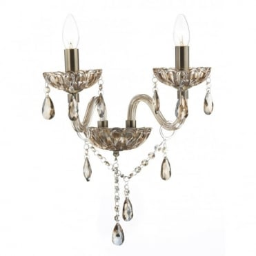 RAPHAEL - Chandelier Style Twin Wall Light Champagne Glass , Switched