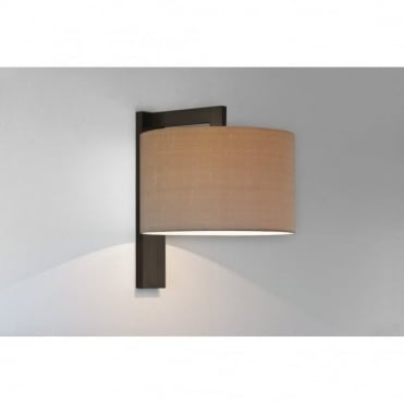 RAVELLO - Contemporary Bronze Wall Light With Oyster Shade