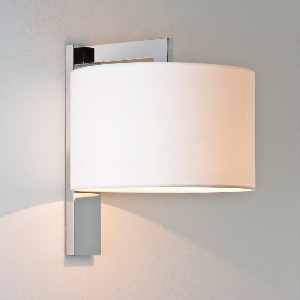Contemporary Wall Light With Shade Chrome Lighting And Lights Uk