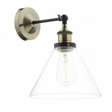 RAY - 1 Light Wb Antique Brass Clear
