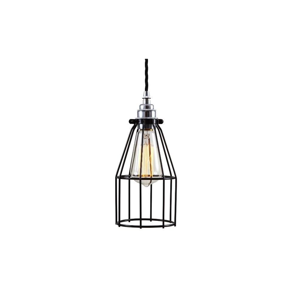 black industrial cage light adjustable drop lighting and lights uk