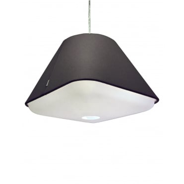 RD2SQ 40 - Dark Grey Polyester Shade with Integrated Frosted Acrylic Diffuser