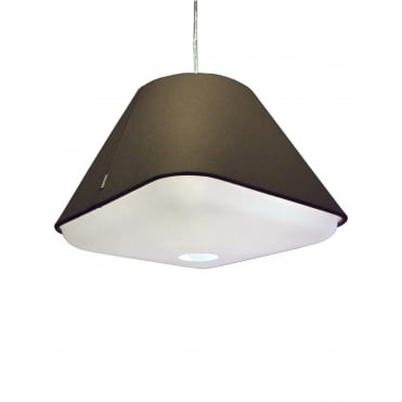 RD2SQ 40 - Warm Grey Polyester Shade with Integrated Frosted Acrylic Diffuser