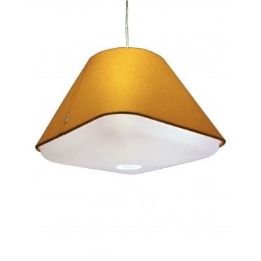 RD2SQ 40 - Yellow Ochre Polyester Shade with Integrated Frosted Acrylic Diffuser