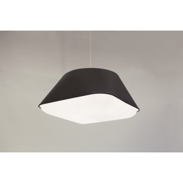 RD2SQ 60 - Large Black Polyester Shade with Integrated Frosted Acrylic Diffuser