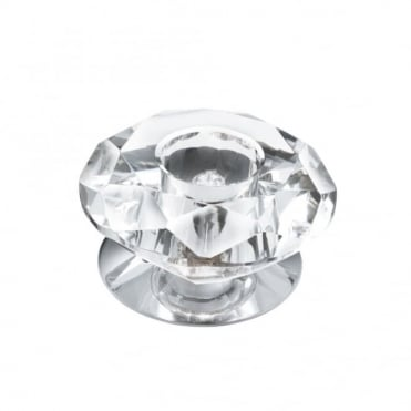RECESSED - Downlighter 1 Light Chrome/Clear Diamond Glass
