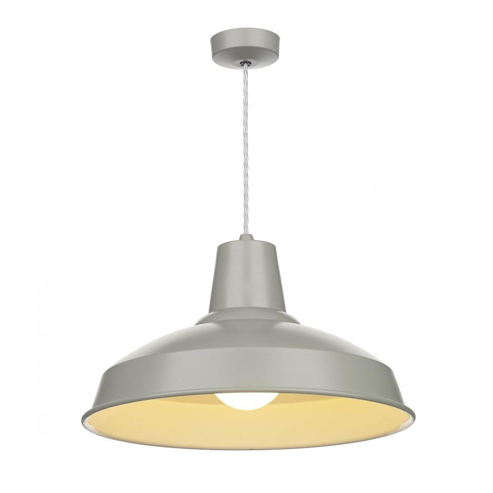 Vintage Industrial Ceiling Pendant Light In Grey Metallic