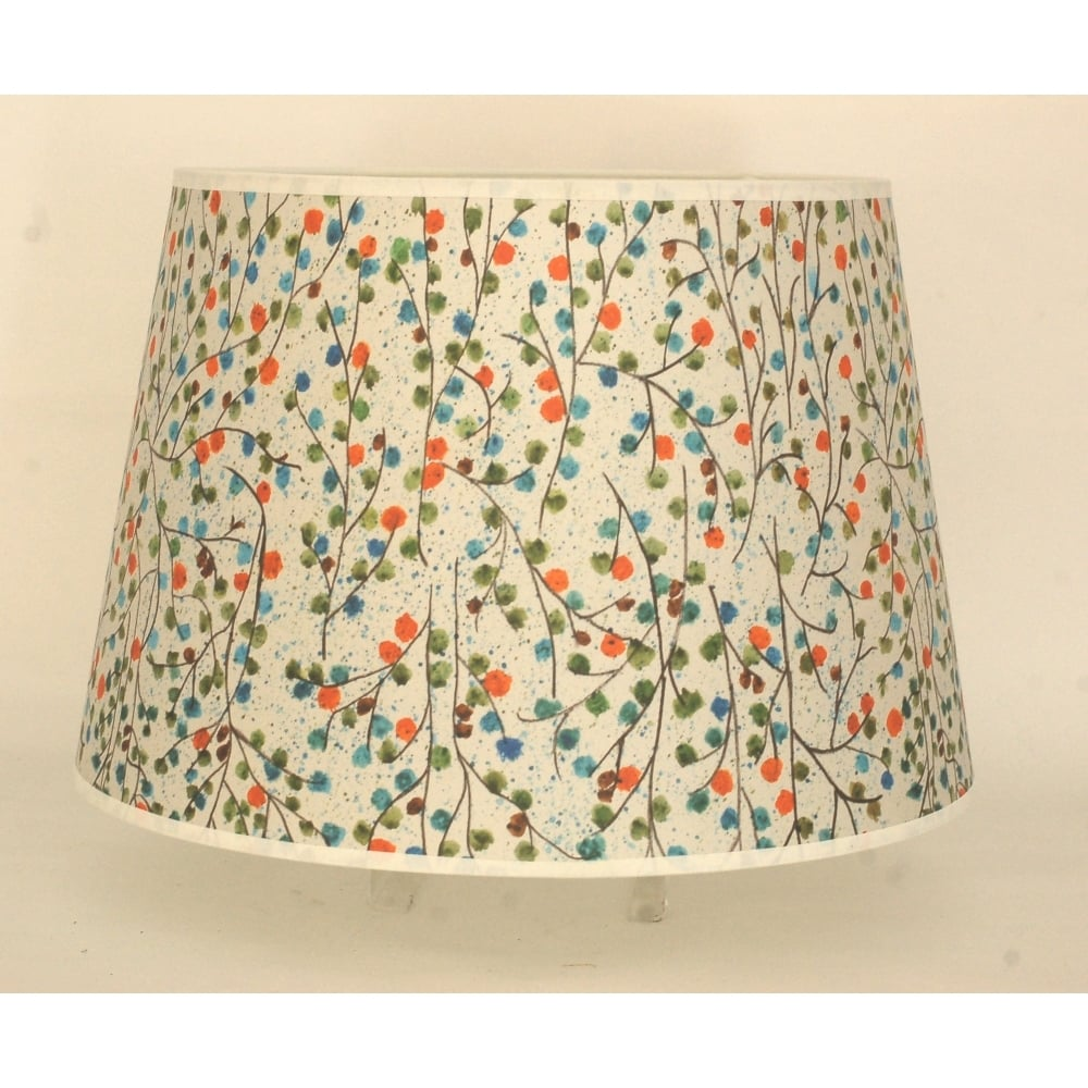 Retro extra large lamp shade with multicolour flower pattern mozeypictures Images