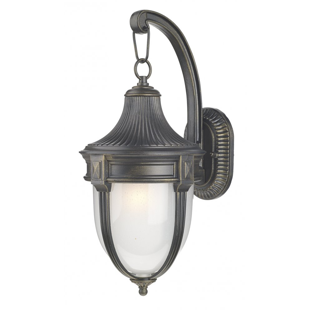 The Lighting Book RICHMOND - Small Traditional Black Gold Garden Wall Light 1fd8053f53dd