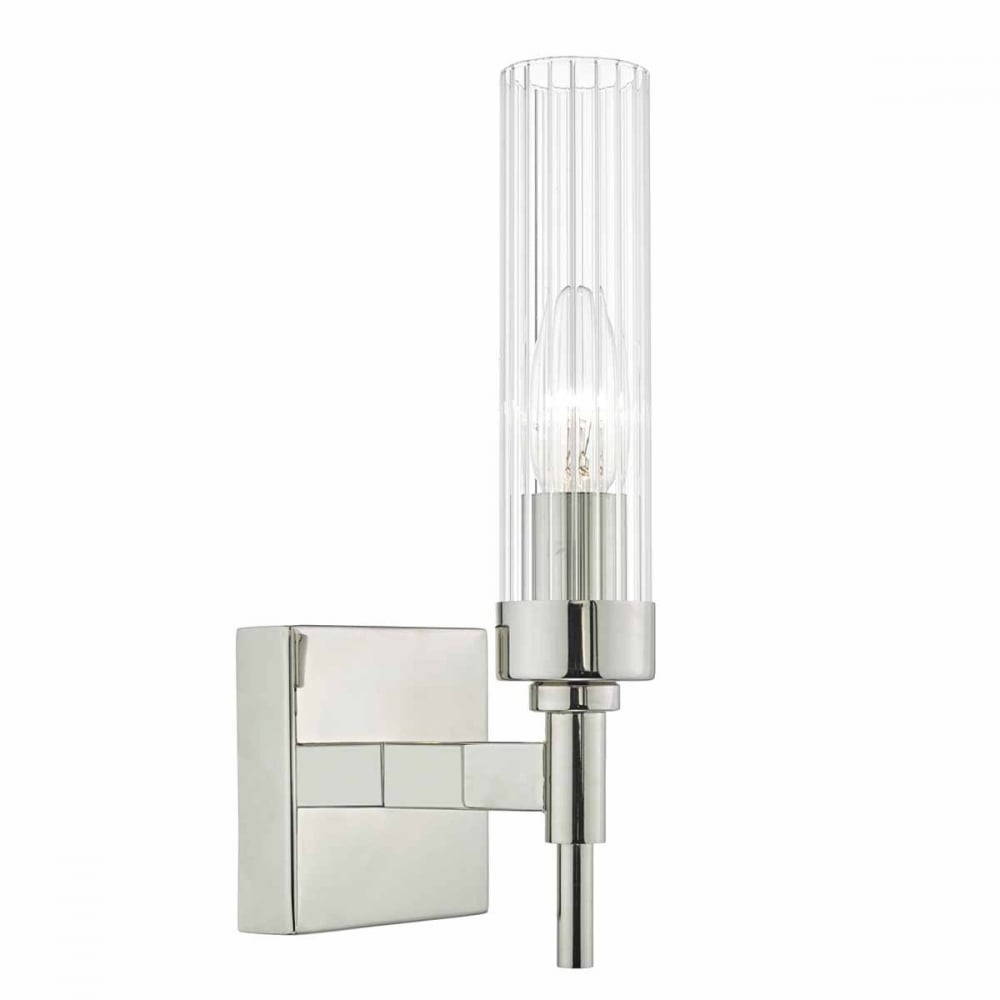 Rikard pol nickel rib glass wall light lighting and lights uk rikard pol nickel rib glass wall light switched aloadofball Image collections