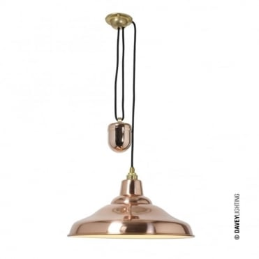RISE AND FALL - School Light Polished Copper