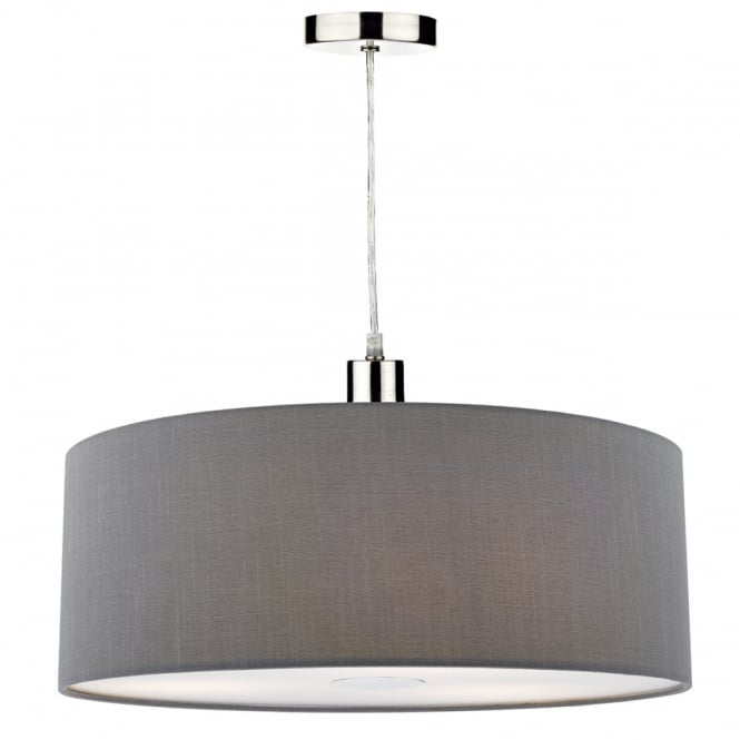 Modern Drum Ceiling Shade Grey 60 Cm Lighting And Lights Uk