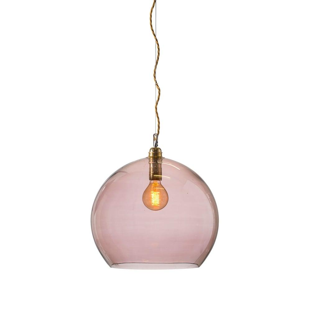dd0ac6ecfa22 Mouthblown Globe Obsidian Glass Pendant Large - Lighting and Lights UK