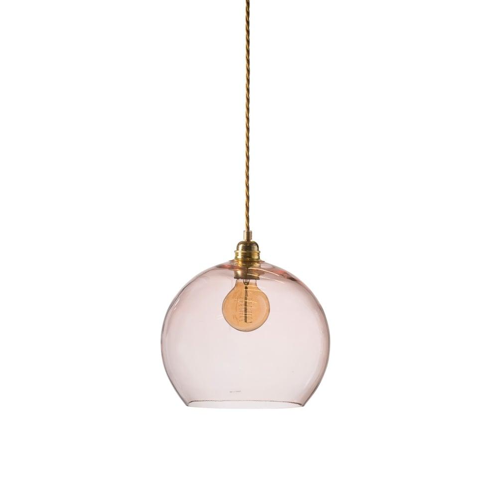 a70097e97ce3 Copenhagen Glass Collection ROWAN - Medium Transparent Coral Glass Ceiling  Pendant Light
