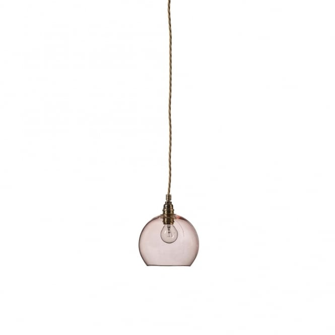 ROWAN - Mini Transparent Coral Glass Ceiling Pendant Light