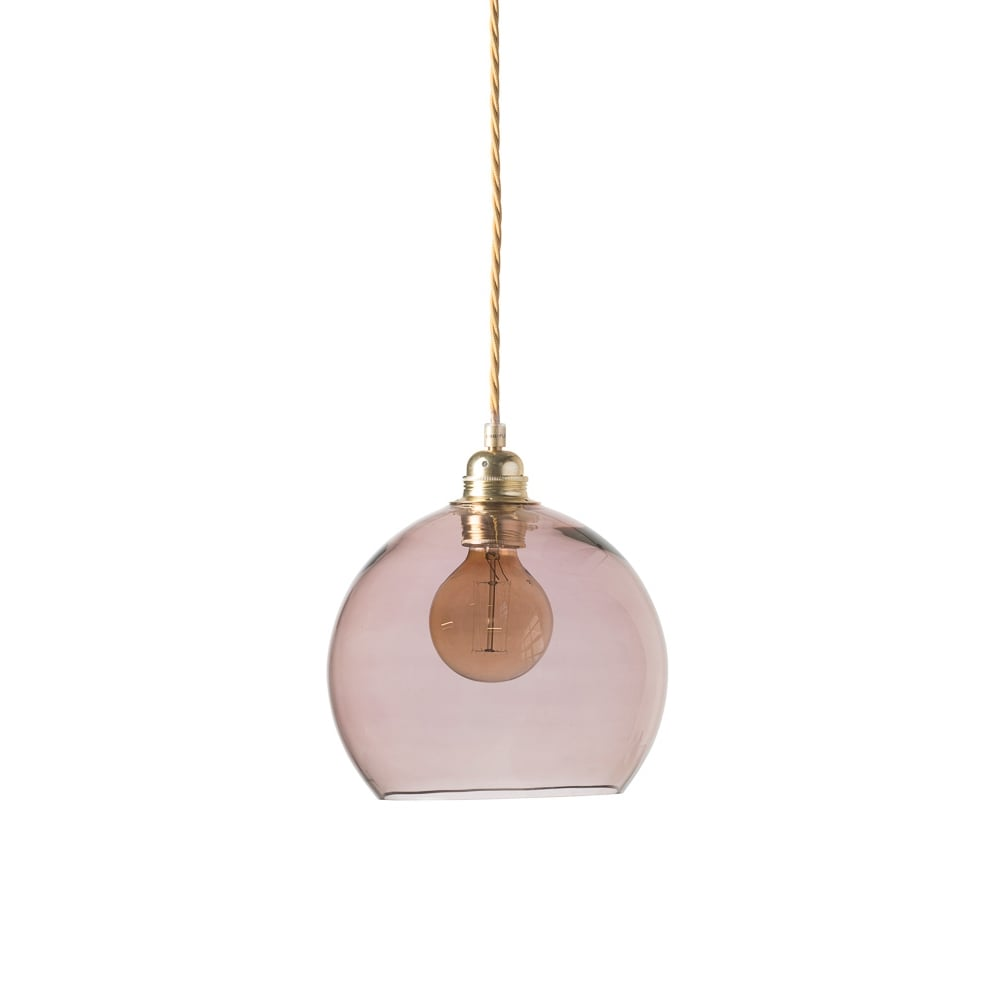 7df6aaa6b555 Copenhagen Glass Collection ROWAN - Small Transparent Obsidian Glass  Ceiling Pendant Light