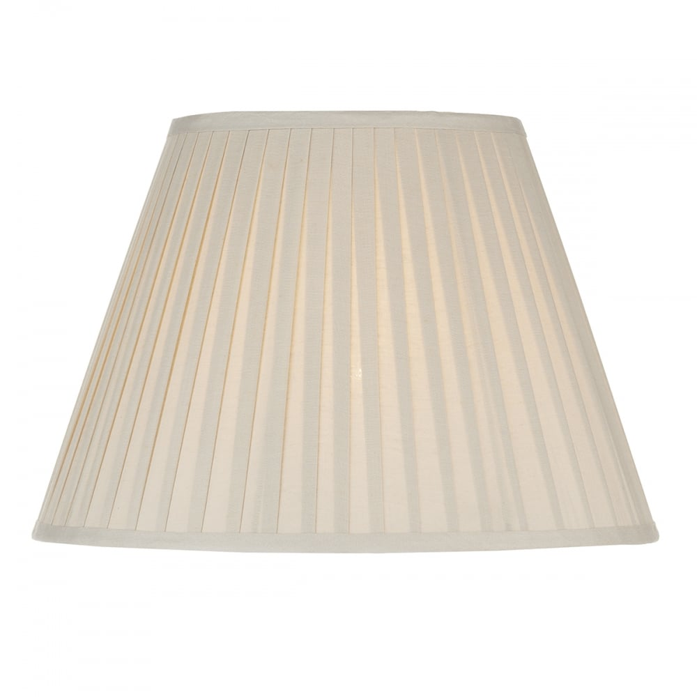 A Pleated Lampshade In Cream Maximum, Pleated Lamp Shades For Table Lamps Uk