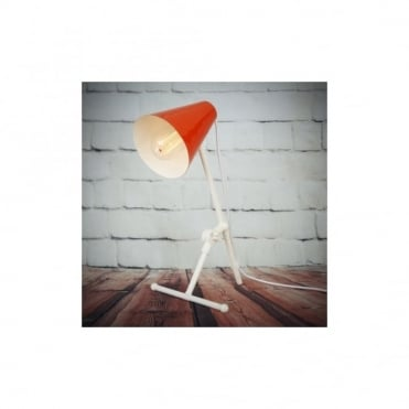 SAMBIA - Table Lamp In Powder Coated Orange