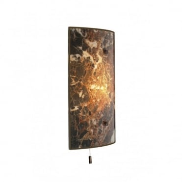 SAVOY - Dark Marble Panel Wall Light , Switched