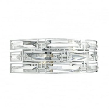 SEVILLE - 2 Light Wall Bracket Polished Chrome Crystal Polished Chrome , Switched