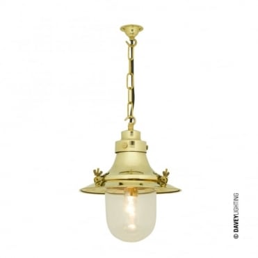 SHIP'S - Small Decklight Polished Brass Clear Glass
