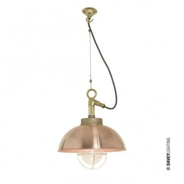 SHIPYARD - Industrial Ceiling Pendant in Copper with Clear Glass